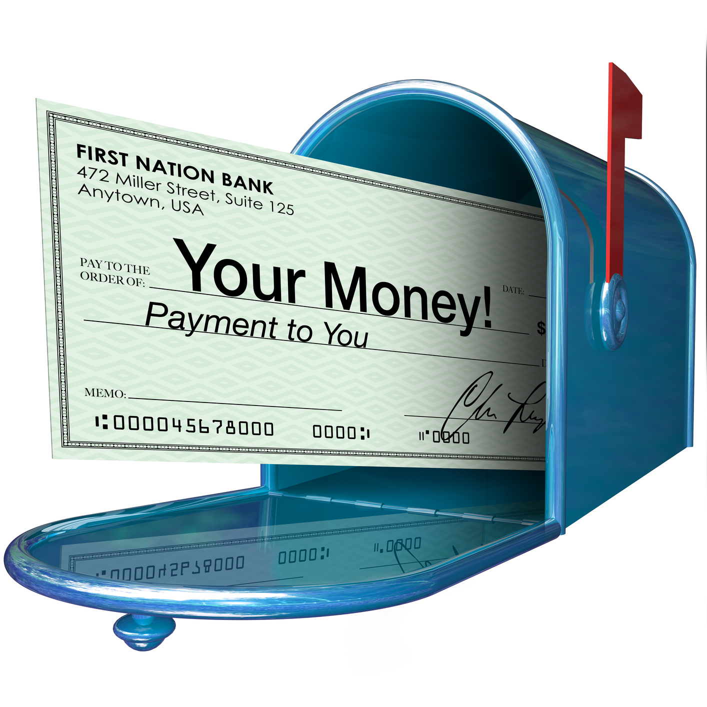 how to change cheque to cash without bank account